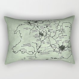 aged canal map Rectangular Pillow