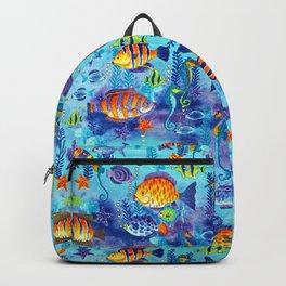 Underwater cartoon cute pattern Backpack