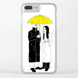 Spy under the umbrella Clear iPhone Case