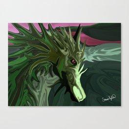 Watermelon Tourmaline Dragon Canvas Print
