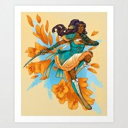 Magical Girl Gladiolus Art Print