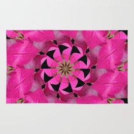 Pink Hydrangea Kaleidoscope Rug