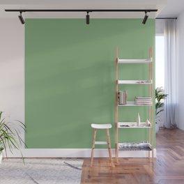 Solid Dark Sea Green Color Wall Mural
