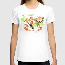 Koi Fish Pond, Feng Shui 9 koi fish art T-shirt