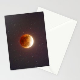 Lunar Eclipse Blood Moon Stationery Cards