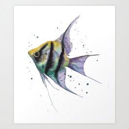 Angelfish, tropical fish, angel fish, animal art prints Art Print