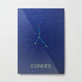 Constellations - CANCER Metal Print