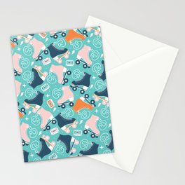 Roller skates pattern 02 Stationery Cards