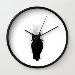 PHANTOM CAT Wall Clock
