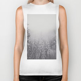 Snowy Forest - Landscape and Nature Photography Biker Tank