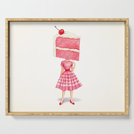 Cake Head Pin-Up - Cherry Serving Tray