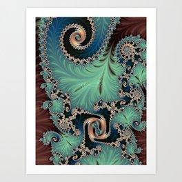 Azure - Fractal Art Art Print