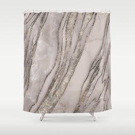 Marble Gemstone Blush Peach  Shower Curtain