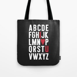 ABC I Love You {dark} Tote Bag