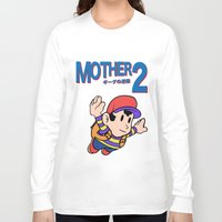 earthbound Long Sleeve T-shirts featuring Mother 2 / Earthbound / Super Mario Bros. 3 Style by Studio Momo╰༼ ಠ益ಠ ༽