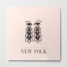 New Folk - Peepers Metal Print