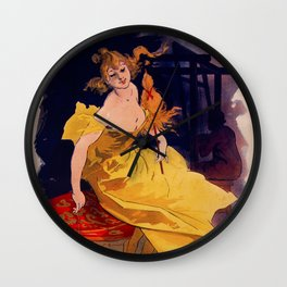 The Spinner LA FILEUSE - Jules CHERET Wall Clock