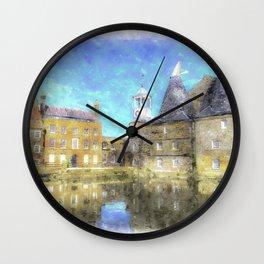 Three Mills Bow London Art Wall Clock