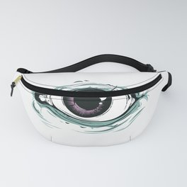 """I See You"" White Pattern Fanny Pack"