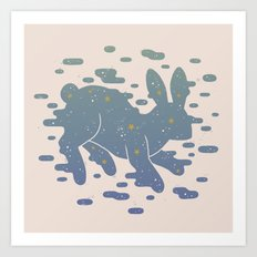 Lepus Constellation: Pastel Art Print