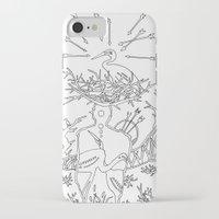 cowboy iPhone & iPod Cases featuring Cowboy by Mariia Krugliakova