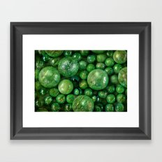 Greenballs Framed Art Print