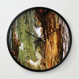 Decaying Trunk Wall Clock