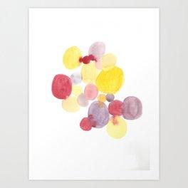 Sunrise Circles Abstract Watercolor Art Print