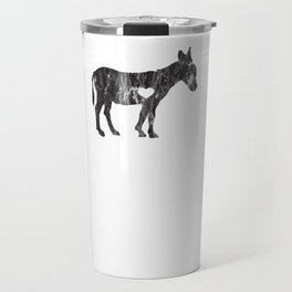 I Love Donkey Rider Jackass Mule Funny Democrat Jockey Black Travel Mug