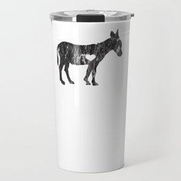 I Love Donkey Rider Jackass Mule Funny Democrat Jockey Black Travel Mug