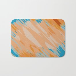 orange brown and blue painting abstract background Bath Mat