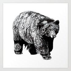 Bear Square Art Print