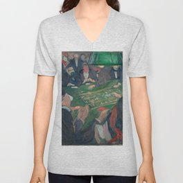 Edvard Munch - At the Roulette Table in Monte Carlo Unisex V-Neck