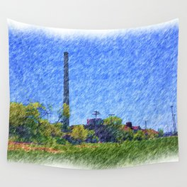 Old time Factory Wall Tapestry
