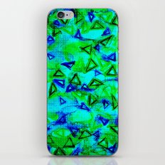 ANALOG zine - TECHNO VIBE Collaboration Piece, Bold Colorful Abstract Watercolor Painting Music iPhone & iPod Skin
