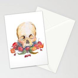 Skull and Peppers Stationery Cards
