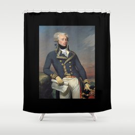 Portrait of Lafayette by Joseph désiré Court Shower Curtain