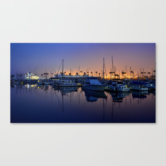Purple Dawn Marina Canvas Print