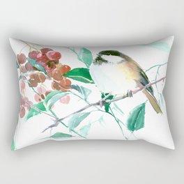 Chickadee And Berries Rectangular Pillow