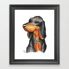 Brush Breeds-Black-and-Tan Coonhound Framed Art Print