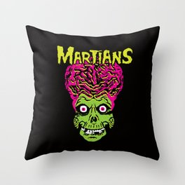 Martians Throw Pillow