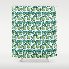 Kawaii Cute Pears Pattern Shower Curtain