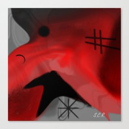 Red Blanket Abstract By Saribelle Rodriguez Canvas Print