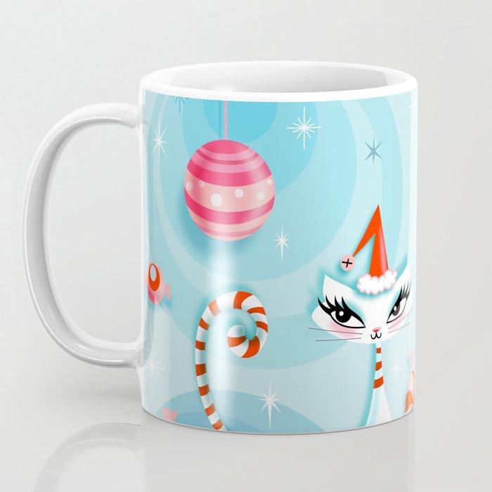 Mod Kitty Christmas Coffee Mug