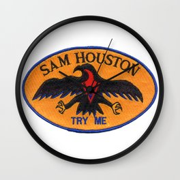 USS SAM HOUSTON (SSBN-609) AND (SSN-609) PATCH Wall Clock
