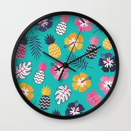 FOREVER SUMMER on MINT Wall Clock