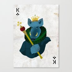 THE KING OF CLUBS Canvas Print