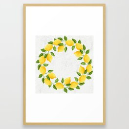 Watercolor Lemons Framed Art Print