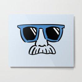 Too Cool (blue cyan) Metal Print