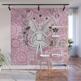 Beautiful fairy on swing Wall Mural